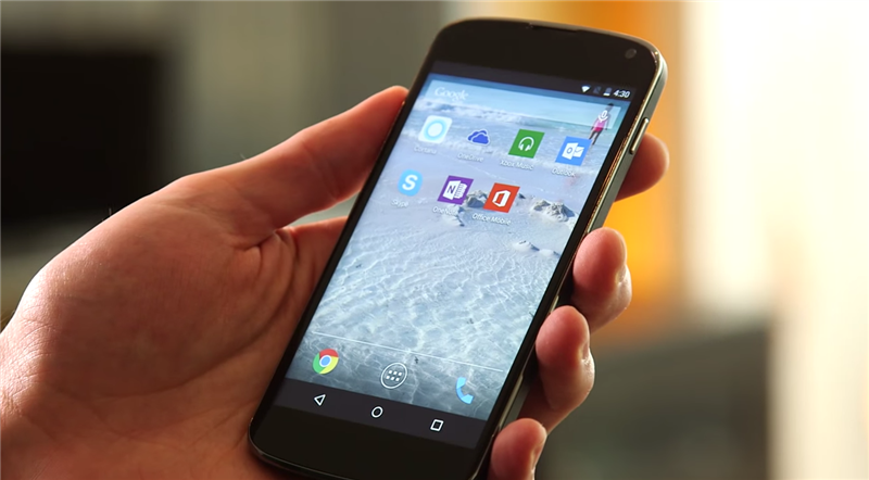 Microsoft Android Office Skype OneDrive