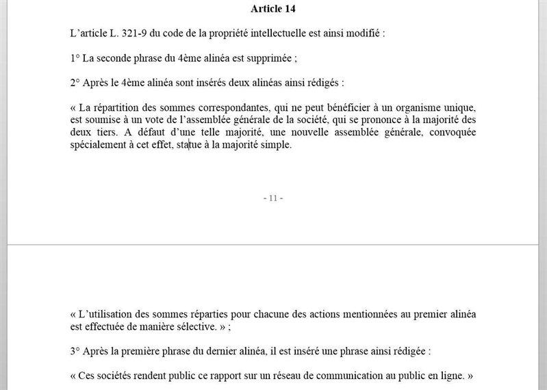 copie privée projet création Aurélie Filippetti