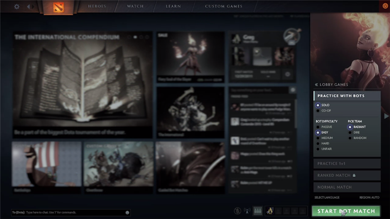 Dota 2 Interface