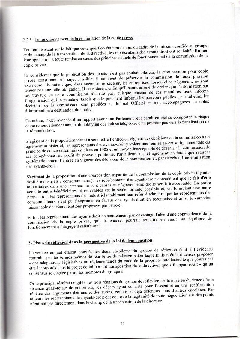 rapport copie privée