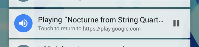 Media Notification Chrome 45