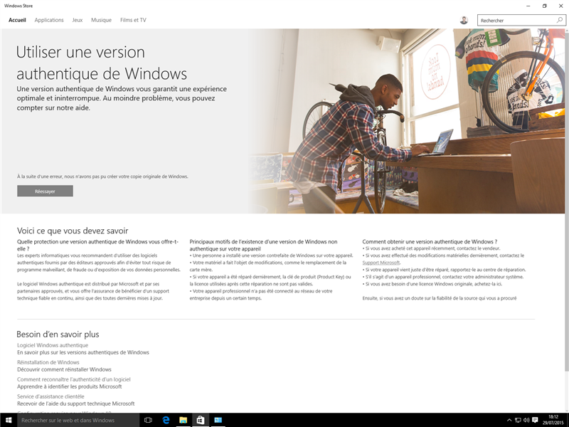 Windows 10 Activation Store