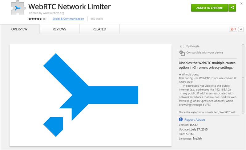 WebRTC Netword Limiter