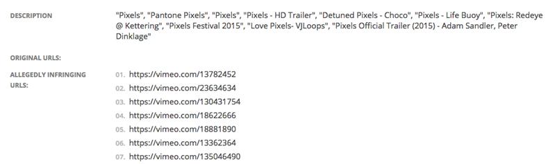 pixels dmca