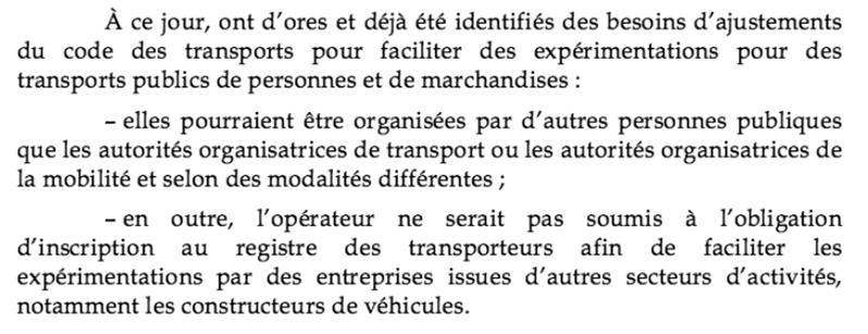 ajustements voitures autonomes ordonnance