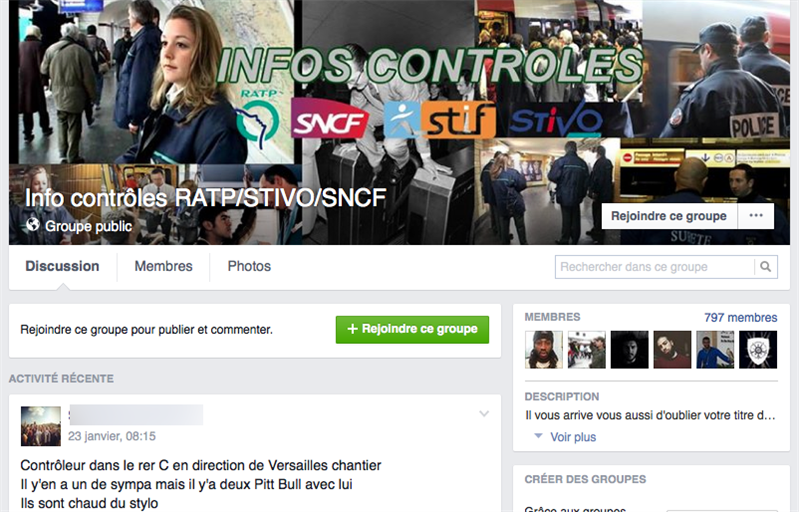 facebook groupe contrôles ratp