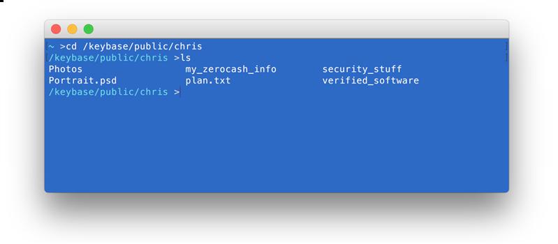 Keybase Système de fichiers