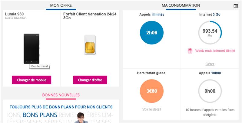 Bouygues Telecom Gestion data Hors horfait