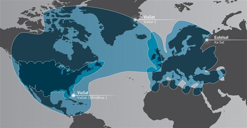 Eutelsat ViaSat satellites KA-SAT