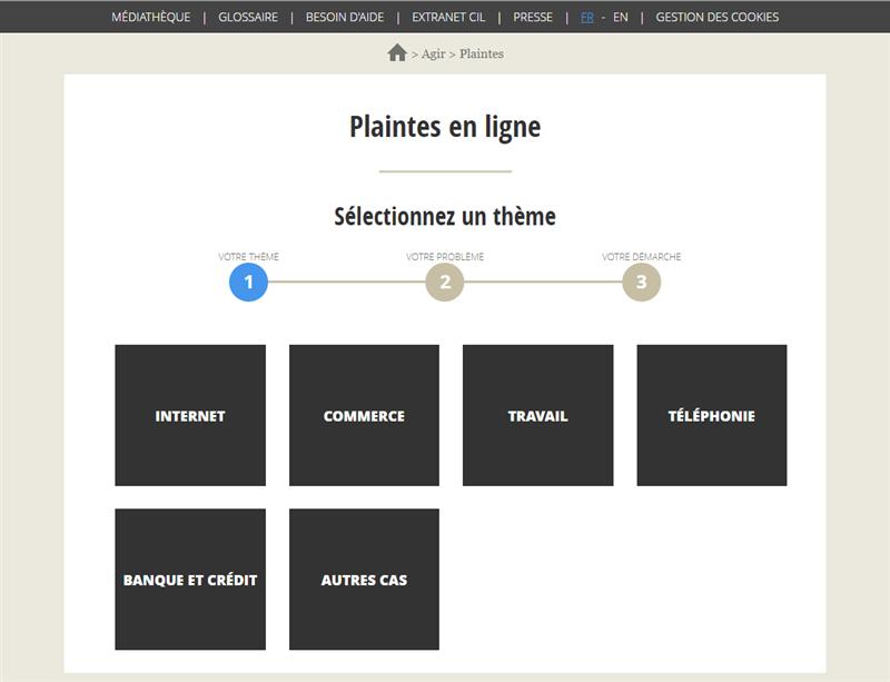 CNIL Plaintes