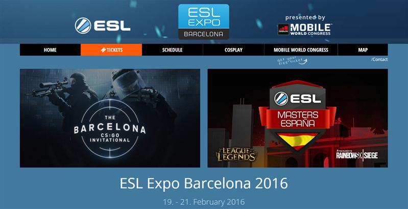 MWC 2016 eSport ESL