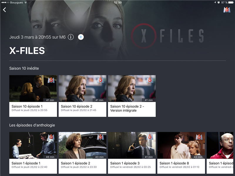 6Play M6 X-Files