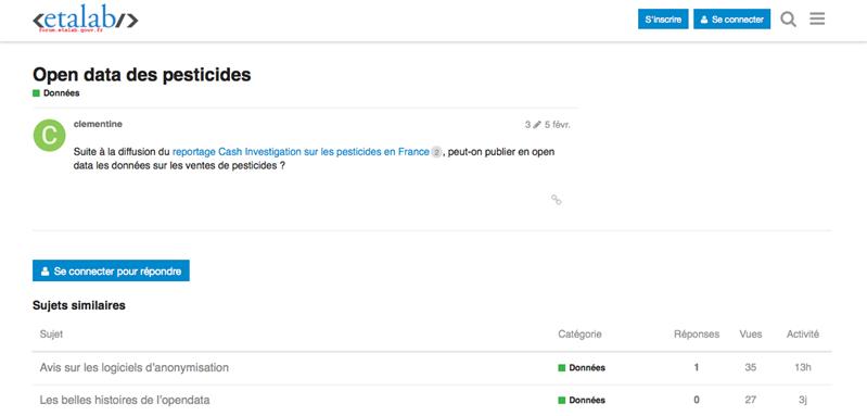 forum etalab open data