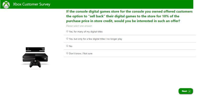 Xbox Sondage revente