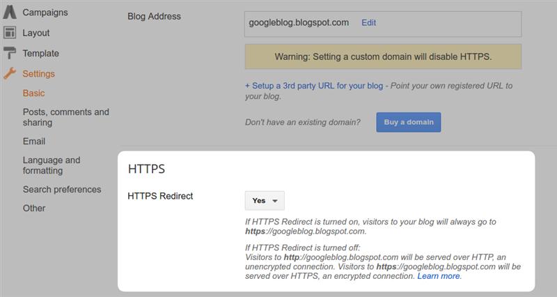 Google Blogger HTTPS