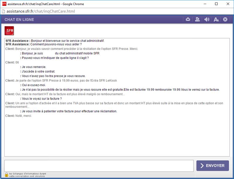 SFR Presse Chat