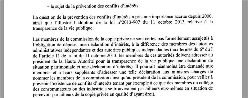 rapport maugue copie privée