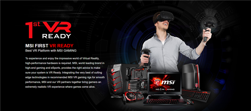 MSI VR Computex 2016