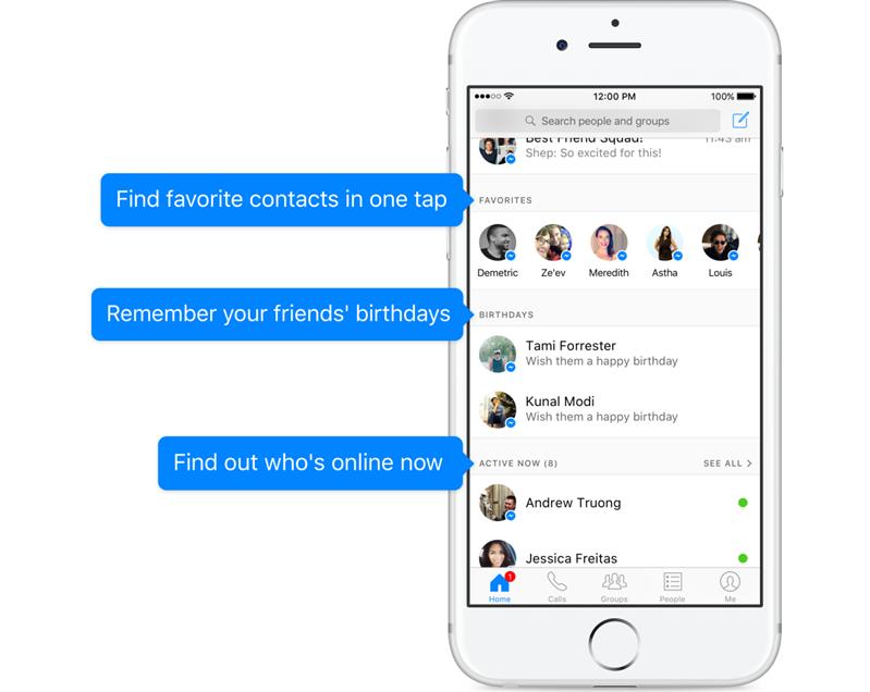 facebook messenger accueil