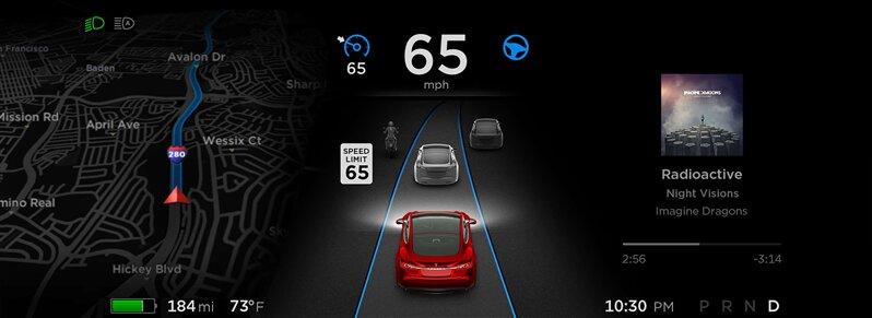 Pilotage automatique Tesla