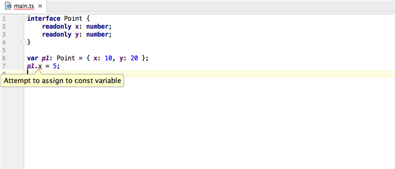 webstorm typescript