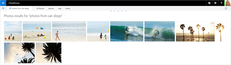OneDrive recherche