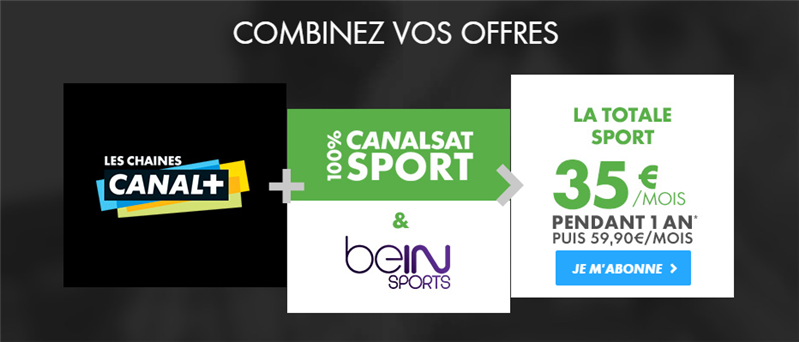 Offres combinées Canal+