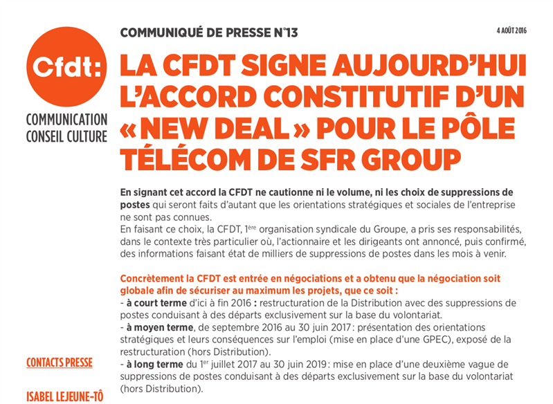 New Deal CFDT