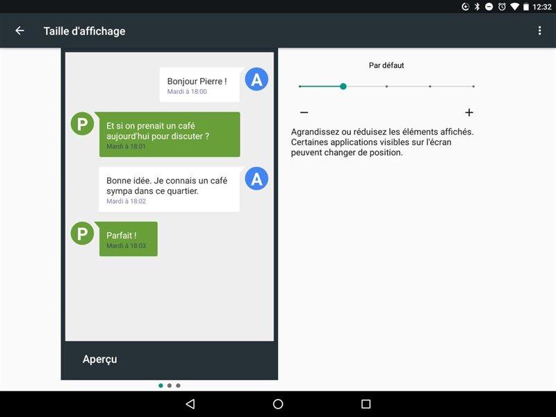 Android Nougat accessibilité