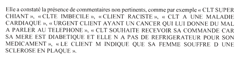 Commentaires Cdiscount CNIL