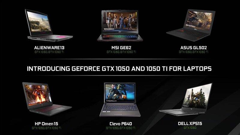 GeForce GTX 1050 Mobile CES
