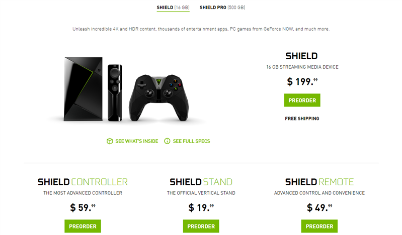 NVIDIA Nouvelle SHIELD Android TV