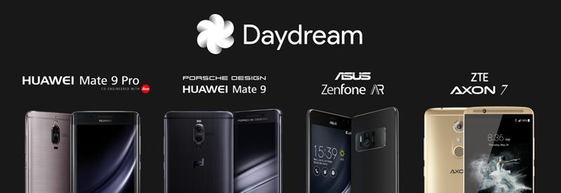 Daydream VR Google ASUS ZTE Huawei