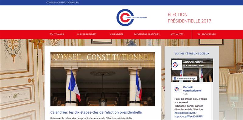 parrainages conseil constitutionnel présidentielle