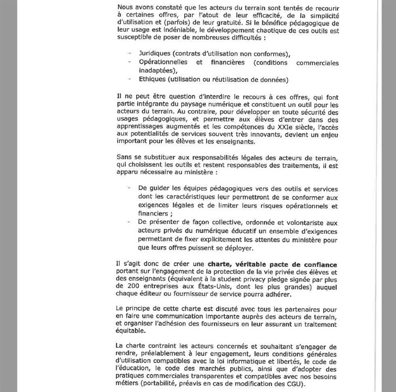 lettre ministère éducation nationale