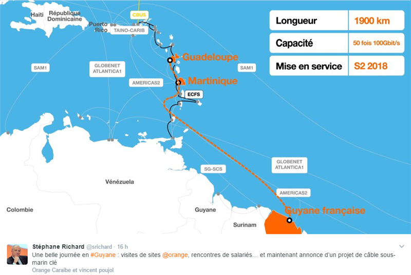 Câble Orange Guadeloupe Guyane