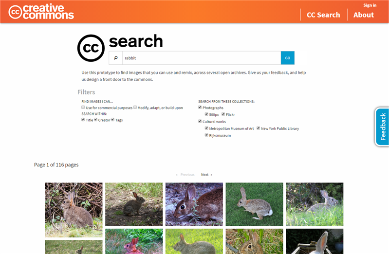 Creative Commons cc search