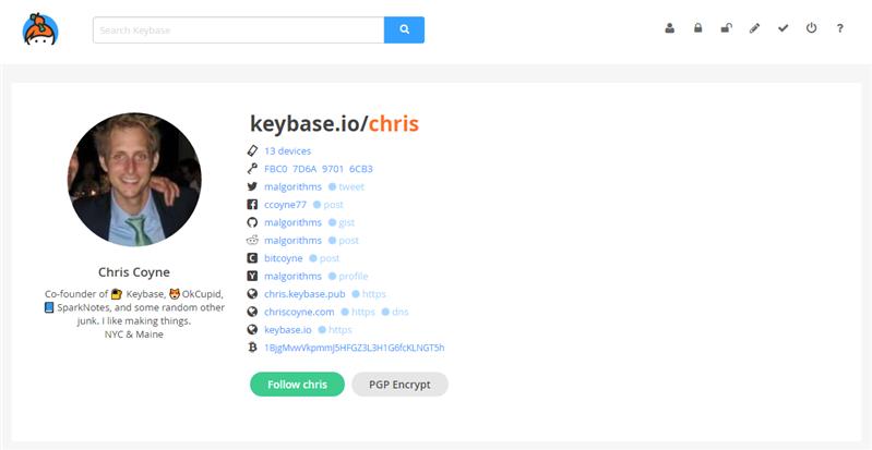 Keybase Profil