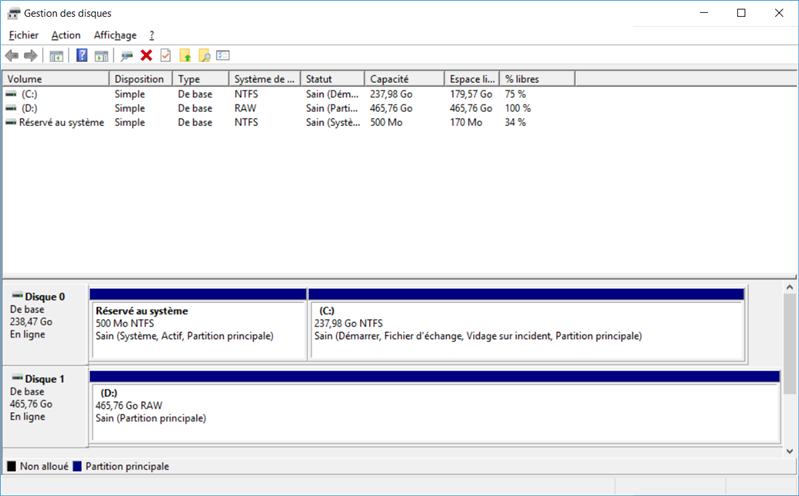 Partition RAW VeraCrypt