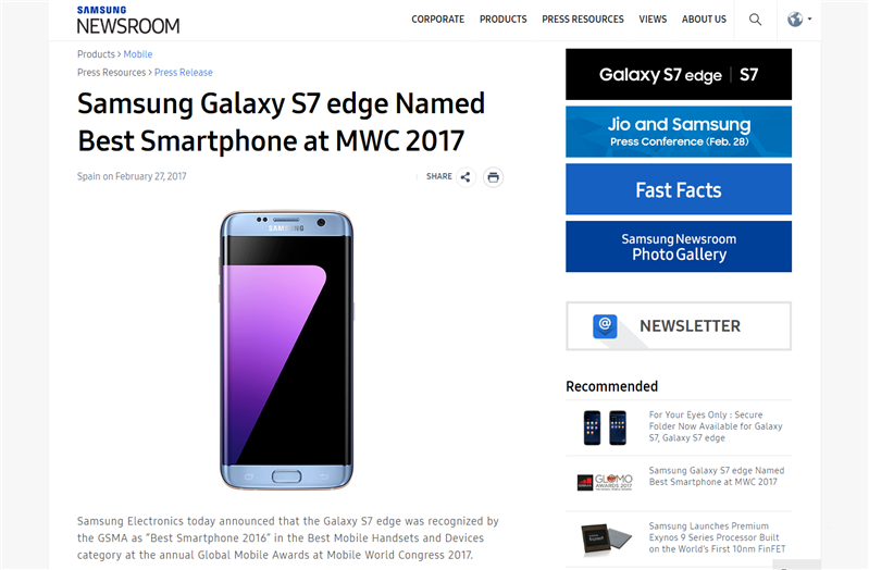 Samsung Award Fake News