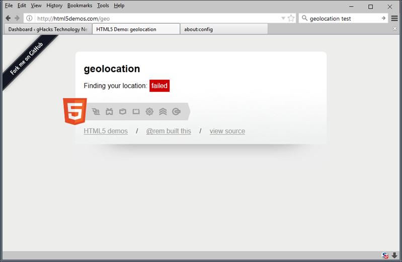 firefox géolocalisation https