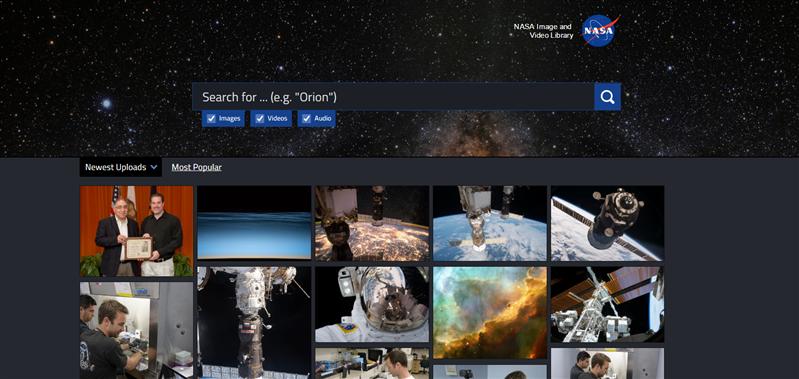NASA moteur recherche