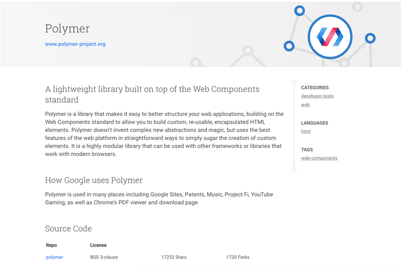 Google Open Source Polymer