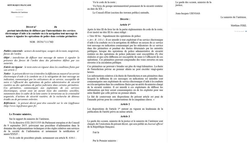 projet de décret