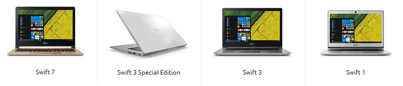 Acer Swift 3 et 1 Next