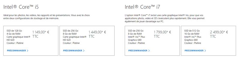 Surface Laptop Tarifs FR