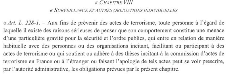 loi macron terrorisme