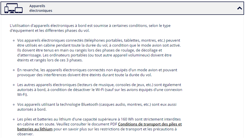 Air France Bluetooth
