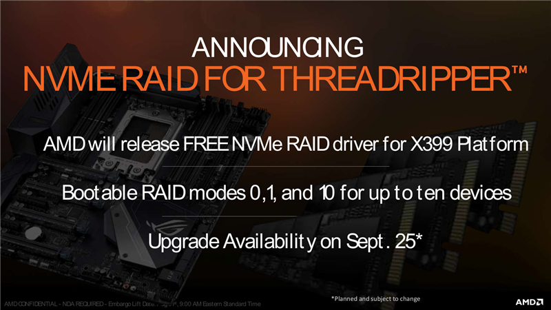 AMD NVMe RAID