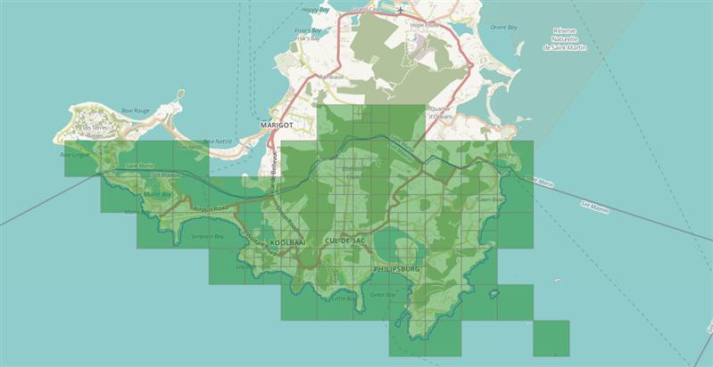 Ouragan Irma OpenStreetMaps